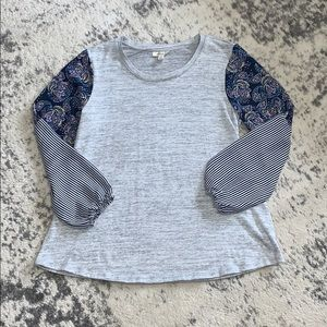 Style & Co size medium paisley & striped sleeve